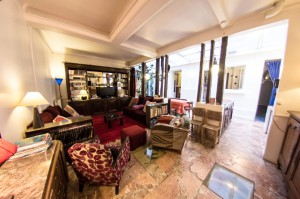 Le duplex : the living room of this beautiful appartment perfect to accomodate 2 to 8 guests